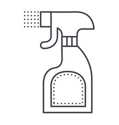 foggy spray bottle line icon sign vector image