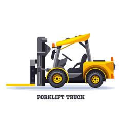 forklift truck warehouse loader fork lift machine vector image