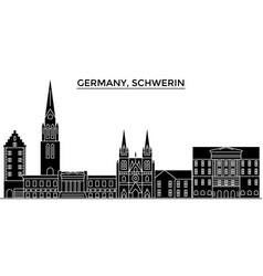Germany schwerin architecture city skyline vector