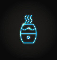 glowing neon humidifier icon in line style vector image