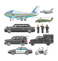 government car presidential auto and luxury vector image