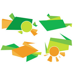Green and orange corporate element colorful vector