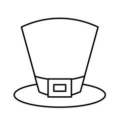 green hat leprechaun for st patricks day vector image