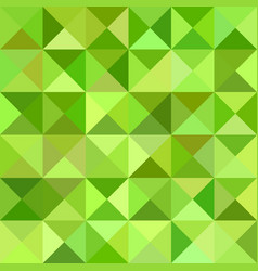 Green triangle mosaic pattern background vector