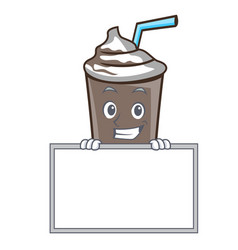 grinning with board ice chocolate character vector image
