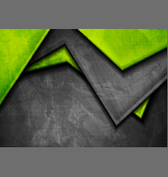 Grunge tech material green and dark grey vector