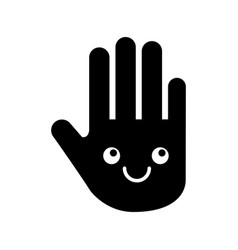 Hand human stop kawaii character vector