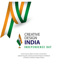 Happy india independence day celebration creative vector