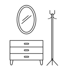 home furniture icon outline style vector image