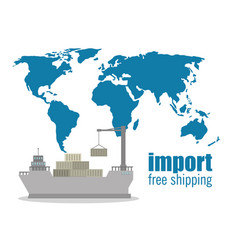 Import free shipping maritime vector
