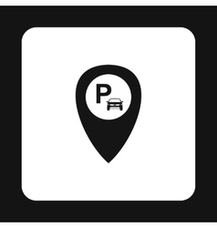 JPS parking sign icon simple style vector image
