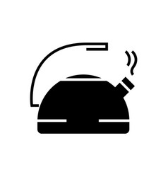 kettle metal icon black sign vector image