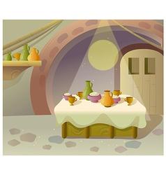 Kitchen Eating Interior vector image