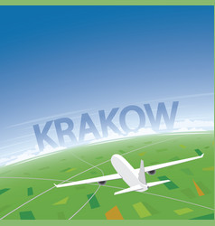 Krakow flight destination vector