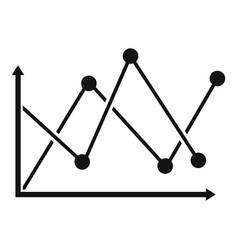 line diagram icon simple vector image