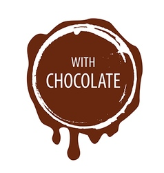 logo Chocolate printing for labels vector image