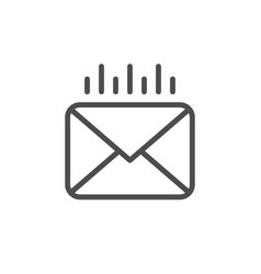 mail sending line outline icon vector image