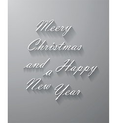 Merry Christmas and New Year background with text vector image