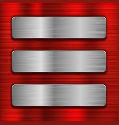 Metal background with iron rectangle plates vector