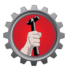 metal badge vector image