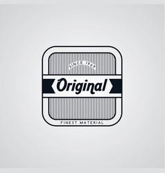 original premium label retro theme badge emblem vector image