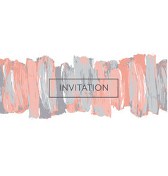 pale pastel color brush stroke design element vector image
