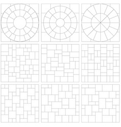 Patio designs vector