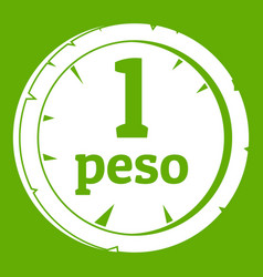 peso icon green vector image