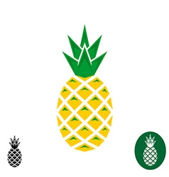 Pineapple logo Geometric sharp corners style logo vector