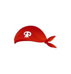 Pirates seaman hat with skull crossbones vector