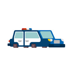police car cartoon style patrol car vector image