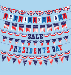 Presidents day bunting vector