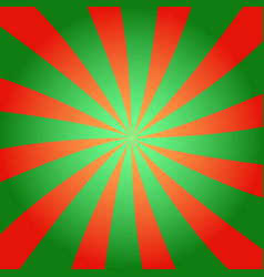 Red and green sunburst background vector
