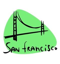 San Francisco CA USA vector image