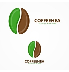 Set of coffee beans label or logo designs vector image