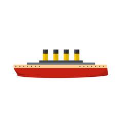 ship retro icon flat style vector image