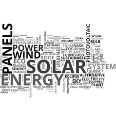 Solar word cloud concept vector