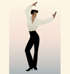 Spanish flamenco dancer man vector