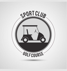 sport club golf course car vector image