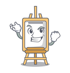 successful easel character cartoon style vector image