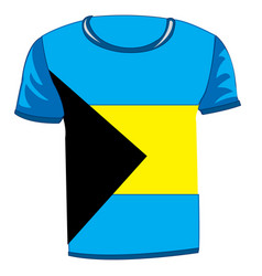 T-shirt with flag of the bahamas vector