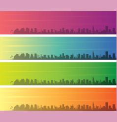 tel aviv multiple color gradient skyline banner vector image