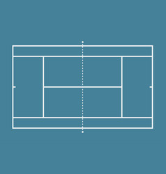 tennis court mockup background field vector image