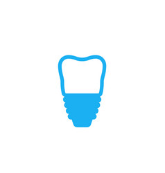 tooth implant icon on white vector image