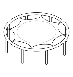 Trampoline jumping icon outline style vector