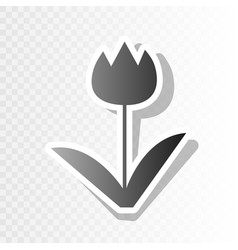 tulip sign new year blackish icon on vector image