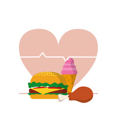 unhealthy food concept vector image