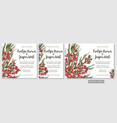 Wedding invite invitation menu card floral vector