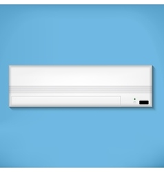 White air conditioner vector
