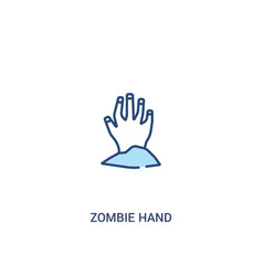 Zombie hand concept 2 colored icon simple line vector